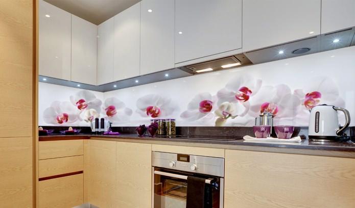 Biasanya Untuk Reka Bentuk Dapur A Imej Besar Bunga Tunggal Atau Caan Individu Digunakan Terutama Sesuai Deco Seni Elegan Dan