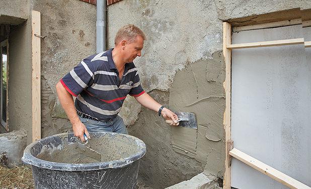 Как штукатурить фундамент дома своими руками 114