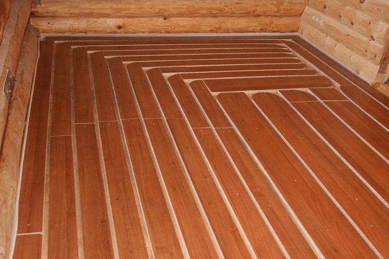 Теплые деревянные полы своими руками 88