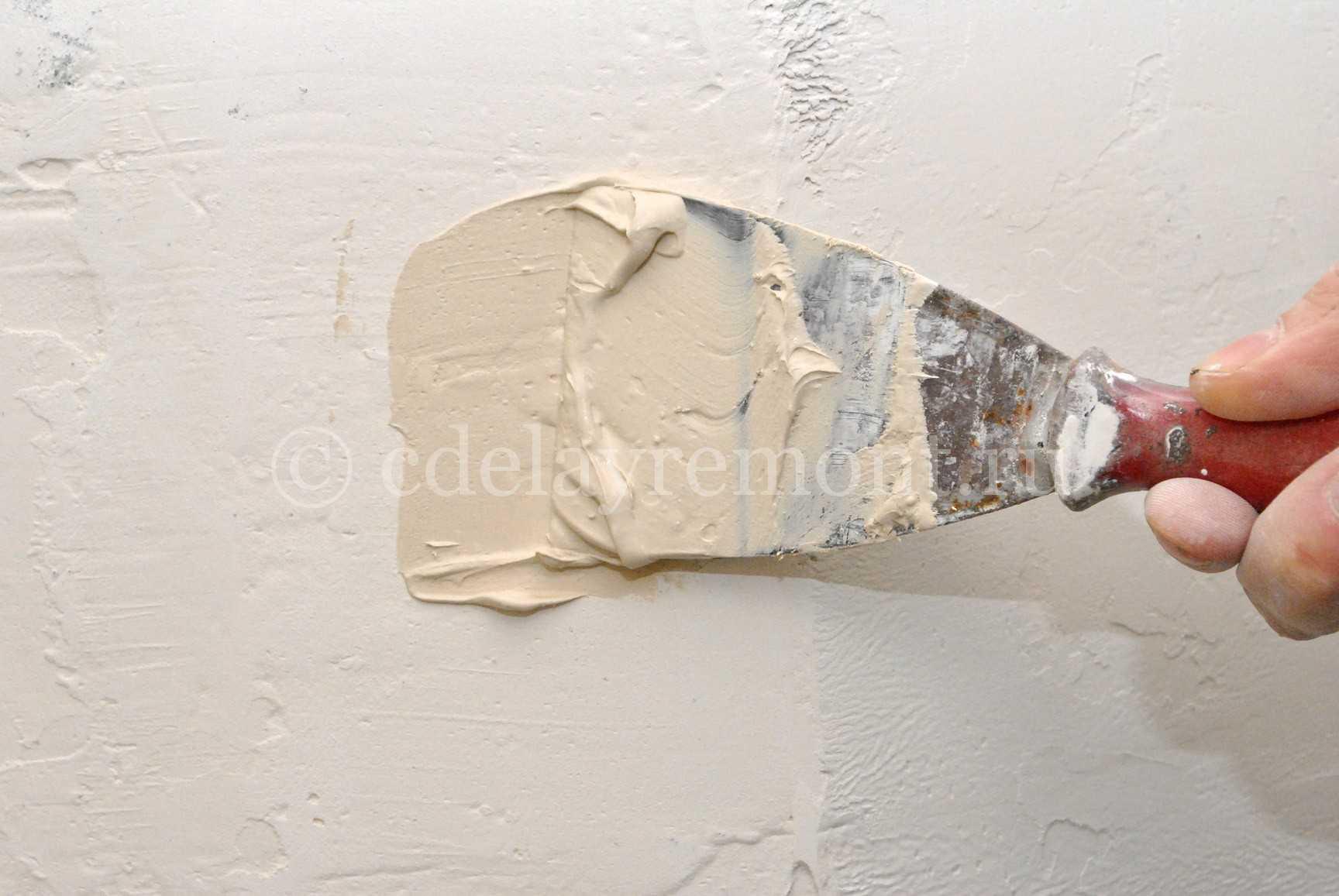 Как зашпаклевать дыры в стене своими руками 7